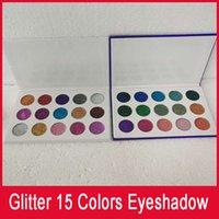 ingrosso insieme di trucco dell'ombretto glitter-Glitter palette eyeshadow 15 set di colori trucco Ultra Pigmented Glitter Shadows Shimmer eye shadow Tavolozza cosmetica