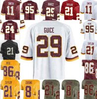 d41e99d6a Mens Washington 8 Kirk Cousins 11 Alex Smith 21 Sean Taylor Redskins 29  Derrius Guice Jersey 72 Eric Fisher 86 Reed 95 Da Ron Payne 01