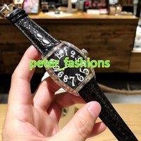 ingrosso orologi bianchi affrontati per gli uomini-Orologi da uomo di fama mondiale botte di vino argento acciaio inossidabile impermeabile orologio in bianco e nero volto completamente automatico orologio meccanico di moda