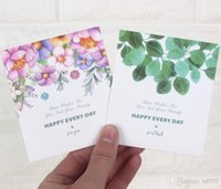 Wholesale wedding thanks cards resale online - Exquisite Rectangle Greeting Cards Evety Day Happy Birthday Best Wishes Wedding Invitations Paper Thank You Blessing Card Tide ql cc