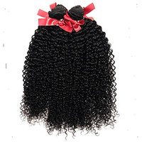 Wholesale curly hair weave styles for sale - Group buy New style Black Color Kinky Curly Hair Weave Human Hair Extensions a Unprocessed Virgin Hair Extensions g