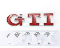 autocollants gti achat en gros de-Car Styling Auto Autocollants De Voiture Arrière Tronc Badge Decal Décoratif pour VW POLO GOLF MK3 MK4 MK5 GTI Emblème Autocollant EEA207