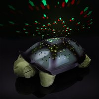 schildkröte nacht licht lampe großhandel-Turtle Nachtlicht Projektor Baby Hilfe Schlaf Spielzeug Lampe Schildkröte Modell Musik Projektionslampe Weihnachten Dekoration Lampe