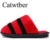 напольные покрытия для обуви оптовых-Catwtber новая обувь женщины мягкий бархат крытый тапочки симпатичные домашние тапочки мягкое дно зима теплая обувь для спальни