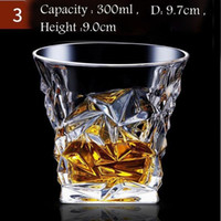 Wholesale diamond cut crystal glasses resale online - Crystal Creative Whiskey Shot Glasses Liquor Cup Wine Tumbler Beer Glass Diamond Cocktail Mug KTV Bar Supply