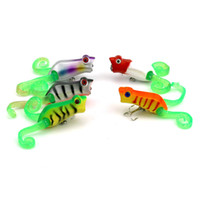 Wholesale floating frog lures online - HENGJIA Lure Popper Fishing Hard Bait Soft Frog Topwater Floating Pesca Artificial Fishing Lures Isca CM G