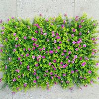 tapete de relva artificial venda por atacado-Planta de simulação gramados parede Tapete Decore Artificial verde da flor Plantar eucalipto Greensward Jardim decoração da casa enfeites 12 5JY ff
