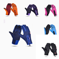 Wholesale full moving - Wholesale riding gloves windproof moving gloves full finger gloves for outdoor activities outdoor skiing professional touch equipment