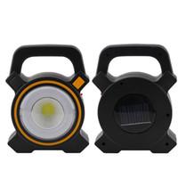 ingrosso micro gadget-Lampade da lavoro a energia solare Pannocchia a mano Micro campeggio esterno Gadget Ricarica USB Lampade a LED di emergenza 14qz X