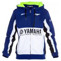 motosiklet yarış giysileri toptan satış-Erkek motosiklet hoodie yarış moto sürme hoody giyim ceket erkekler ceket çapraz Zip jersey tişörtü M1 yamaha Rüzgar Geçirmez ceket