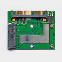 msata mini toptan satış-Yeni Yüksek Kalite Mini PCI-E MSATA SSD 2.5 Inç SATA 6.0 GPS Adaptörü Dönüştürücü Kart Modülü Kurulu QJY99