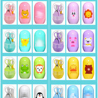 Wholesale kids clipper - Cartoon Baby Nail Care Grooming Practical Clipper Trimmer Convenient Daily Care Kits Scissor Kid Tools Set New