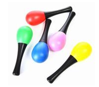 martillo de plástico para niños al por mayor-Plástico Maraca Sonajeros Arena Martillo Niños Niños Instrumentos Musicales Favor de Partido Shaker Juguete
