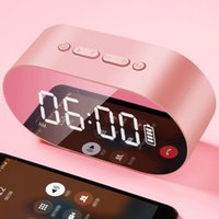 Wholesale mobile homes new online - 2019 New P1 Bluetooth Alarm Clock Speaker LED Display Digital Mirror With Aux TF Card USB Flash disk FM Home Office Portable HIFI Speaker
