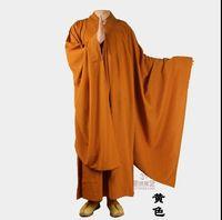 Wholesale monks clothing online - Zen clothing High grade Monk service Buddhist monk clothing Big sleeves