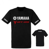 ingrosso motociclette yamaha nuove-2018 Marca Estate Nuovo YAMAHA MT 09 t shirt Uomo Cotone manica corta Kawasaki T-Shirt Moto tshirt YAMAHA camicie supera it