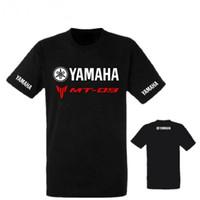 hombres kawasaki al por mayor-2018 Marca Verano Nuevo YAMAHA MT 09 camiseta Hombre Algodón de manga corta Kawasaki Camisetas Motocicleta camiseta YAMAHA camisetas tops tees