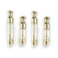 fette öle großhandel-Metall Golden Drip Tip Fett CCELL Cartridge Glasbehälter th205 th210 Keramik Coil Glas Zerstäuber Amigo Tank