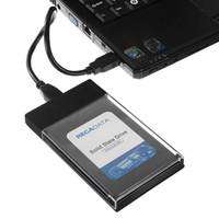 ssd desteği toptan satış-2.5 Inç USB 3.0 Sata Sabit Disk Muhafaza Aracı Ücretsiz Şeffaf HDD SSD Muhafaza 5 Gbps Desteği 2 TB UASP Protokolü Kılıf