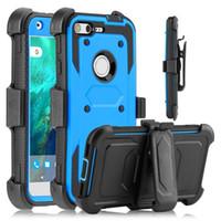 Wholesale fierce cases online – custom Heavy Duty Holster Belt Clip Hybrid Armor Case For Alcatel iDol Fierce A3 TRU Stellar Walters A30 Plus Google Pixel XL BLU R1HD
