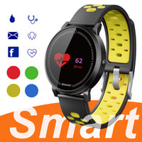 Wholesale wholesale outdoors thermometer - F4 Smart Bracelet Watch Band fitness tracker Blood Pressure Heart Rate Monitor Thermometer Pedometer Wristband for Android IOS