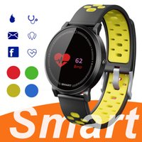 termómetros para niños al por mayor-F4 Smart Bracelet Watch Band rastreador de fitness Presión arterial Heart Rate Monitor Termómetro Podómetro Wristband para Android IOS