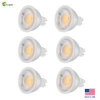 светодиодный индикатор mr16 12v 3w оптовых-Светодиодные лампы Zoopod 6 Pcs MR16, без подсветки 3000K Теплый белый, 40 градусов, AC / DC 12V, 3W, 30W GU5.3 Галогенная лампа Эквивалент