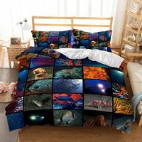 Wholesale underwater world print - 3D Underwater World Jigsaw Pattern Printed Bedding Sets All Sizes Pillow Case Quilt Cover Duvet Cover