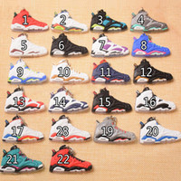 Wholesale hanging fashion accessories resale online - 22 Styles Basketball Shoes Key Chain Rings Charm Sneakers Keyrings Keychains Hanging Accessories Novelty Fashion Sneakers C90L