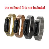 Wholesale stainless steel stencils resale online - Stainless steel strap for xiaomi mi band smart bracelet SMT Stencil replacement strap for mi band DHL free colors
