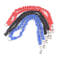 Wholesale head pulls - Soft Adjustable Dog Leash Convenient Anti Winding Puppy Pull Ropes Buffered Double Headed Traction Rope Hot Sale 6 5sm B