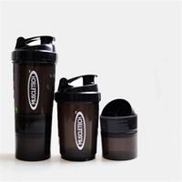 copo de plástico para shaker venda por atacado-Copo de balanço de Três Camadas de Nova Aranha Proteína Shaker Sports Scale Milkshake De Alta Capacidade De Plástico Musculação Garrafa De Água 7 5xg V