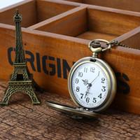 стильные часы оптовых-Vintage Charming Train Boat Ship Carved Hollow Steampunk Pocket Watch Men Women Necklace Pendant Clock Gifts PT