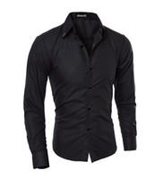 kleidung ohne marke großhandel-Männer Plaid Shirts Marke 5xl New Mens Hemden Langarm Slim Casual Schwarz Weiß Social Männliche Kleidung Chemise Homme Ohne Krawatte