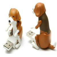 Wholesale Cute Dog Usb - Hot selling Funny Cute USB Pet Humping Spot Dog Toy Relief Stress Christmas Gift LOT JK18feb08