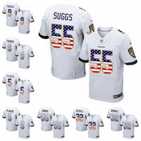 Wholesale elite football jersey white for sale - Baltimore Elite Road football  Jersey Ravens White USA 65e0f1af5