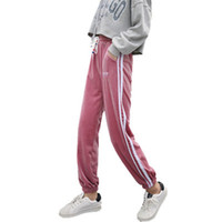 ingrosso collant coreani-Pantaloni Pantaloni sportivi casual per studenti Pantaloni sportivi in pile dorati per studentesse Versione coreana Collant allentato per donna