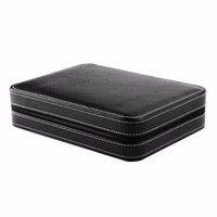 Wholesale wood show case - 2017 8 Grids PU Leather Watch Box Storage Showing Watches Display Storage Box Case Tray Travel Jewelry Watch Collector Case