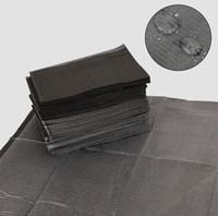 bavoirs imperméables noirs achat en gros de-Bavettes tatouage noir jetable de Sheets barrière de papier imperméable Lingettes nettoyantes 13 pouces X18 Pour Piercing Tattoo Accessoires