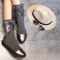 botas de invierno de las señoras más cálidas al por mayor-Descuento mujeres de la señora Snowboots otoño invierno botas de cuero de las mujeres de moda gruesa de piel caliente botas interiores de punto botas de lana de ocio
