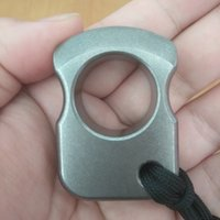 Wholesale punching ring for sale - Group buy Single finger knuckle duster ring TC4 Titanium Self Defense punch daggers outdoor knuckle Survival pocket EDC Knuck knuckles Multi tools