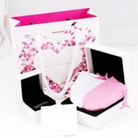 sacos de embalagem de pano venda por atacado-Alta qualidade Marca de Jóias Caixas de Embalagem Para Pandora Encantos Caixa Pulseira sacos Anel Caixa de Presente Original Polido pano conjunto com papel