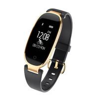 спортивные часы с частотой пульса bluetooth оптовых-S3 Smart Watch мода спорт Bluetooth Smart Wristband телефон Smart Clock Heart Rate Monitor Smartwatch для женщин Девушка 2018 хороший