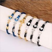 Wholesale Craft Braids - European and American style jewelry stainless steel braided bracelet ladies personality couple bracelet crafts ship chain wholesale