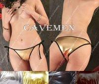 cravate de couleur métallique achat en gros de-Cravate couleur métallique cuir * 2347 * dames String G-string sous-vêtements culottes maillot de bain T-back Bikini livraison gratuite