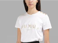 Wholesale fashion tshirts - New Harajuku BL1018 t shirts Women Fashion GOLD BUCKLE Tshirts Femme Female T Shirts Top printed PAIRS T-Shirt short sleeve tees tops