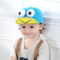 Wholesale Frog Decorations - Cartoon Frog Baby Hats 6-36 Months Baby Caps Lovely Decoration Cute Honey Baseball Caps Spring Autumn Traveling Caps