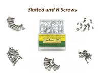 herramientas surtidas al por mayor-Tornillos ranurados y tornillos H - Acero inoxidable surtido para reparaciones de relojes y relojes 12 tamaños Kit de herramientas de reparación