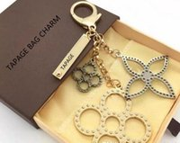 Wholesale cars keychains free shipping for sale - zhu perforated Mahina leather TAPAGE BAG CHARM M65090 Key Holder Box comes with dust bag