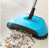 Wholesale dustpan sweeper for sale - Group buy Stainless Steel Sweeping Machine Push Type Hand Push Magic Broom Dustpan Handle Household Cleaning Package Hand Push Sweeper mop